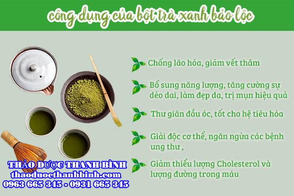 trà xanh Bảo Lộc